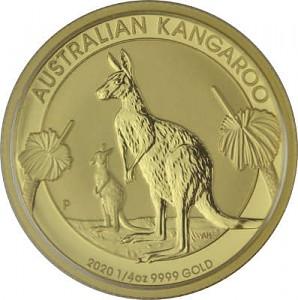 Australian Kangaroo 1/4oz Gold - 2020