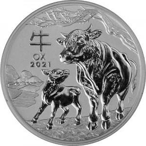Lunar III Year of the Ox 2oz Silver - 2021