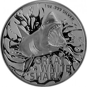 Great White Shark RAM 1oz Silver - 2021