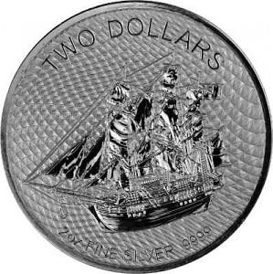 Cook Islands Bounty 2oz Silver - 2020