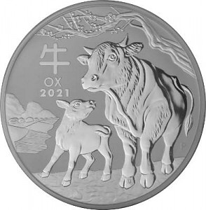 Lunar III Year of the Ox 1kg Silver - 2021