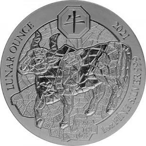 Rwanda Lunar Ox 1oz Silver - 2021 (Standard Taxation)
