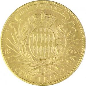 100 Monaco Francs Albert 29,04g Gold