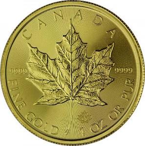 Canadian Maple Leaf 1oz Gold - 2021