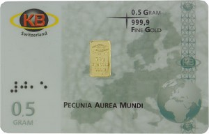 Gold Bar 0,5g - KB-Gold Switzerland