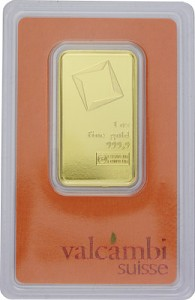 Gold Bar 1oz - Valcambi