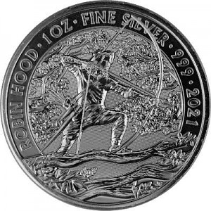 Great Britain Myths and Legends Robin Hood 1oz Silver - 2021