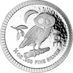 Niue Athenian Owl 1/4oz Silver - 2021