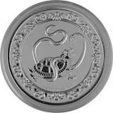 Niue Celestial Animals The Black Turtle 1oz Silver - 2021