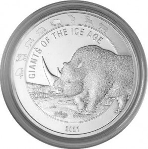 Giants of the Ice Age - Wolly Rhino 1oz Silver – 2021