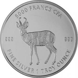 Republic of Chad Mandala Antelope 1oz Silver - 2021
