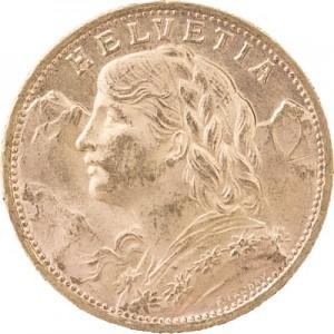 20 Swiss Francs Vreneli 5,81g Gold
