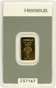 Gold Bar 5g - Heraeus