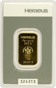 Gold Bar 10g - Heraeus