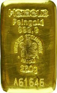 Gold Bar 250g - Heraeus