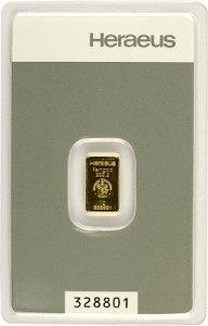 Gold Bar 1g - Heraeus
