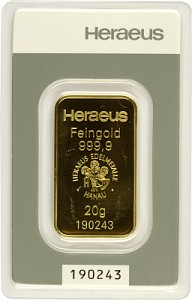 Gold Bar 20g - Heraeus
