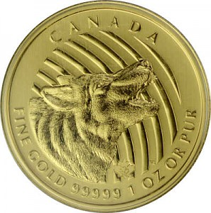 Call of the Wild - Howling Wolf 1oz Gold - 2014