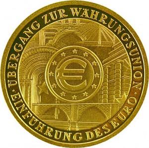 100 Euro 1/2oz Gold - 2002 European Monetary Union