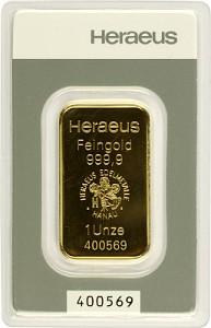 Gold Bar 1oz - Heraeus