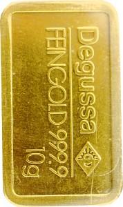 Gold Bar 10g - Various Manufacturers