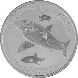 Great White Shark 1/2oz Silver - 2014
