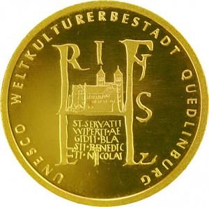 100 Euro 1/2oz Gold - 2003 Quedlinburg