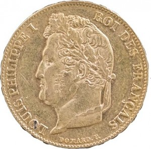 20 French Francs Louis Philippe I 5,81g Gold