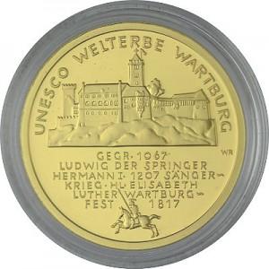 100 Euro 1/2oz Gold - 2011 Wartburg