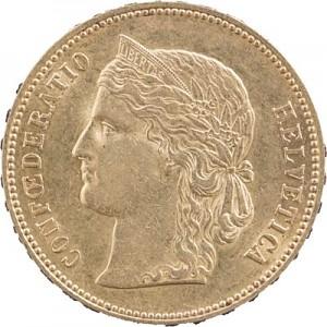 20 Swiss Francs Helvetia 5,81g Gold