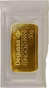 Gold Bar 50g - Various Manufacturers