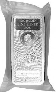Cook Islands Coin Bar 1kg Silver