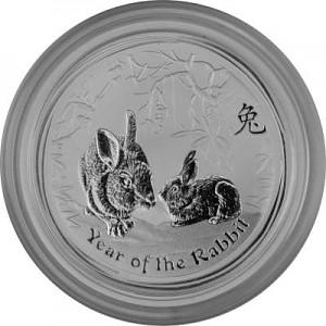 Lunar II Year of the Rabbit 1/2oz Silver - 2011