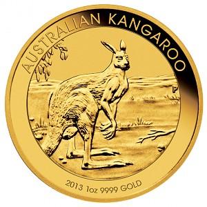 Australian Kangaroo 1oz Gold - 2013