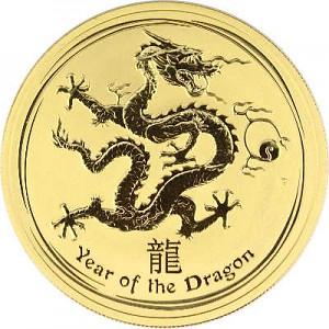 Lunar II Year of the Dragon 1oz Gold - 2012