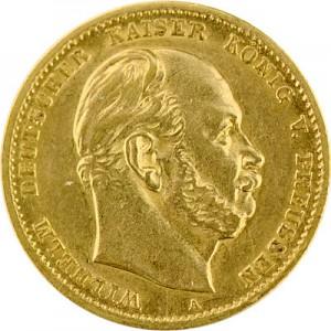 10 Mark Emperor Wilhelm I of Prussia 3,58g Gold