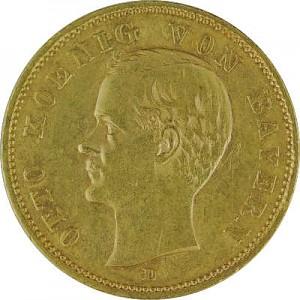 10 Mark German Empire different 3,58g Gold B-Stock