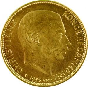 20 Danish Kroner - Christian X 8,06g Gold