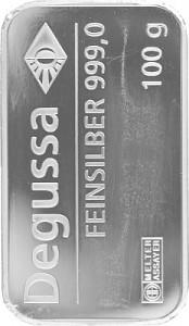 Silver Bar 100g Silver