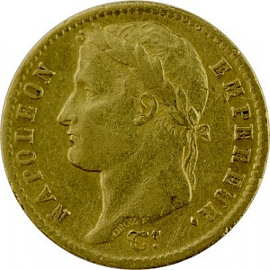20 French Franc Napoleon I with Coronary 5,81g Gold