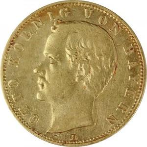 10 Mark Otto King of Bavaria 3,58g Gold