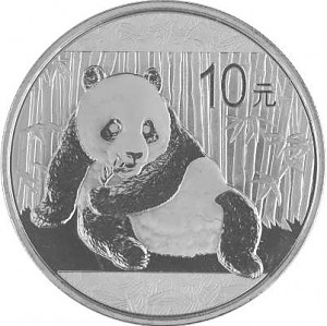 China Panda 1oz Silver - 2015