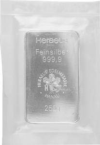 Silver Bar 250g Silver (Standard Taxation)