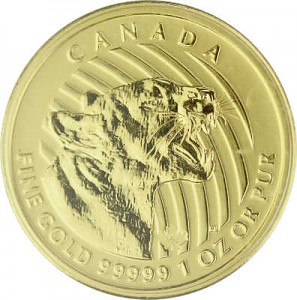 Call of the Wild - Growling Cougar 1oz Gold - 2015