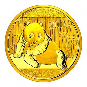 Chinese Panda 1/2oz Gold - 2015