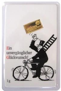 Gold Bar 1g - Umicore 'Glückwunsch'
