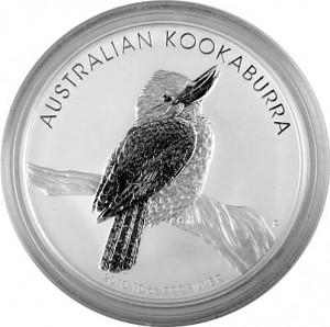 Kookaburra 10oz Silver - 2010