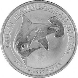 Great Hammerhead Shark 1/2oz Silver - 2015