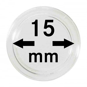 Coin Capsules 15mm, 1 Piece