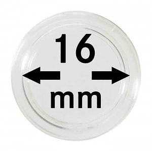 Coin Capsules 16mm, 1 Piece